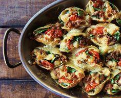 The Brooklyn Ragazza: Mamma Bianco's Sausage Gorgonzola Stuffed Shells