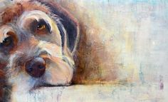 I love the blurred edges of the dog and multicoloured background