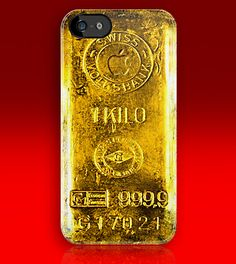 Swiss 1 kilo Gold with apple logo iphone 5, iphone 4 4s, iPhone 3Gs, iPod Touch 4g case
