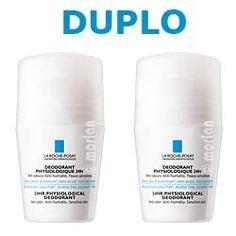 La Roche DUPLO Desodorante Fisiológ 24hPSensibleRoll-on, 2x50ml #larocheposay #facial #desodorante #beauty #belleza #pielsensible