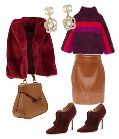 """""""cozy and chic winter"""" by muguet07 on Polyvore featuring Aevha London, Rosie Assoulin, Manolo Blahnik, Boohoo and Chanel"""