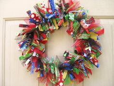 Ribbon Christmas Wreath by a work of heart SA's photostream - vist AWorkofHeartSA.etsy.com