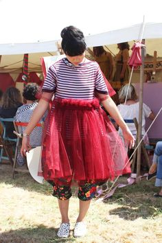 Susie Bubble wearing Molly Goddard dress at Port Eliot festival #susielau #stylebubble