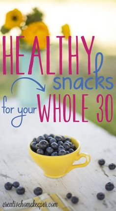 10 Healthy Snacks for Your Whole 30 Challenge {Paleo approved too!} Looking for healthy snacks that are filling, nutritious, kid approved and & paleo friendly? These quick and easy snack options can be whipped up in no time and will satisfy any cra Whole 30 Snacks, Whole Foods, Whole 30 Diet, Paleo Whole 30, Healthy Snacks For Kids, Easy Snacks, Snacks Ideas, Healthy Food, Kid Snacks