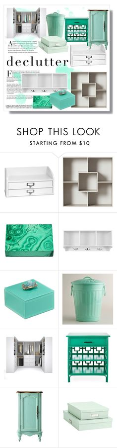 """""""declutter // mint green"""" by princessdayna ❤ liked on Polyvore featuring interior, interiors, interior design, home, home decor, interior decorating, Improvements, Home Decorators Collection, American Atelier and Cost Plus World Market"""
