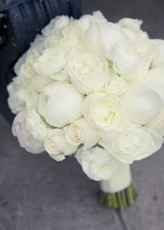 Try an all white bouquet for an elegant, chic look.