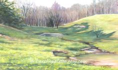 Landscape meadow painting 8x10 print from by Earthspalette on Etsy