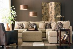 L Shaped Living Room And Dining Decorating Ideas