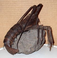 JAPANESE-EDO-PERIOD-IRON-ARTICULATED-18TH-CENTURY-SIGNED-LOBSTER