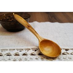 Hand carved wooden spoon coffee scoop from plum,wooden spoons,wood... ($25) ❤ liked on Polyvore featuring home, kitchen & dining, kitchen gadgets & tools, wooden scoop, wood scoop, wooden utensils, wood coffee scoop and hand carved wood spoons