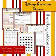 Are you planning a trip to the happiest place on earth?  Print our FREE printable Disney vacation planner. Set includes 4 sheets.