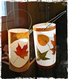 River Bliss: Savoring Light: Leaf Lantern Tutorials - Too Many Pumpkins Autumn Activities For Kids, Fall Crafts For Kids, Crafts To Make, Art For Kids, Autumn Crafts, Autumn Art, Nature Crafts, Fairy Dust Teaching, Paper Bag Crafts