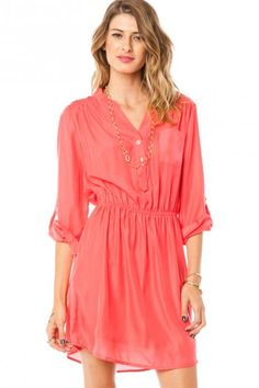 Arabelle Dress in Coral