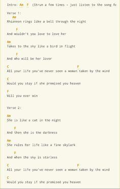 Rhiannon - Fleetwood mac ukulele chords from http://www.ukulele-tabs.com/uke-songs/fleetwood-mac/rhiannon-uke-tab-8100.html