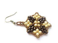 Glasohrringe - braune und beige Ohrringe - ein Designerstück von tizianat bei…