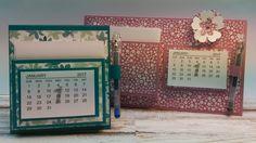 Anleitung: Tischaufsteller Mini-Kalender-2017 (2 Projekte)