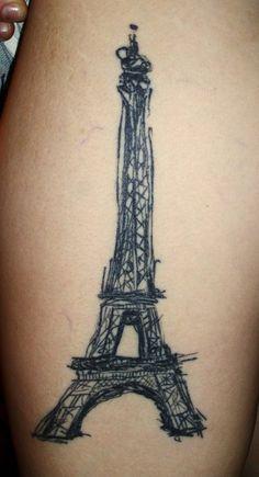 Awesome Eiffel Tower  Galen Bryce #sketch tattoo #sketchy #eiffel tower tattoo
