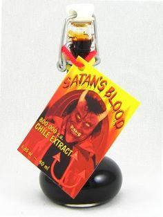 cool Satan's Blood Hot Sauce