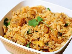 Fried Rice, Shrimp, Fries, Food And Drink, Cooking, Ethnic Recipes, Greek Beauty, Oil, Cuisine