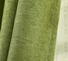 Simple Modern Chic Natural Linen Insulated Curtains In Green Curtains