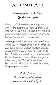 Archangel Ariel | back | Mystic Angels Oracle 23