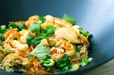 Curried Chicken Coconut Stir Fry - The Fit Cook - Healthy Recipes - Skinny Recipes