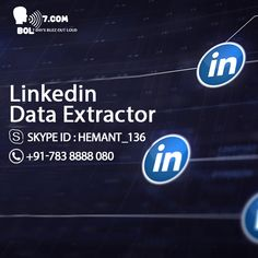 Today Linkedin data extractor has become an important part of the   online data extraction. Data is everything in present marketing area.   Except for using data as a mean to over take your rivals, data  extraction play an important & straightforward role in information gathering & smooth running of your business or company .