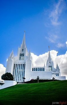 San Diego LDS Temple - Cloudy spring day. Photo courtesy of JarvieDigital.com
