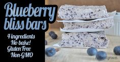 I love recipes that use only a few ingredients.  These Blueberry Bliss Bars are just that. All you need is 4 simple ingredients.
