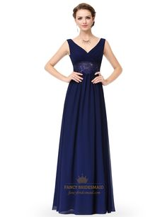 FancyBridesmaid.com Offers High Quality V Neck Sleeveless Lace Sheer Waist…