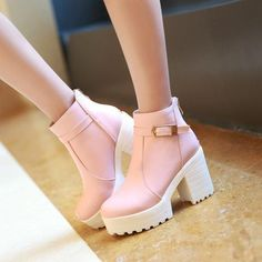 Women Pumps Lace Up Mixed Color High Heels Oxfords Shoes Woman Buckle Ankle Boots, Ankle Strap Flats, Ankle Straps, Ankle Heels, Ankle Booties, High Heel Boots, Shoe Boots, Shoes Heels, High Shoes