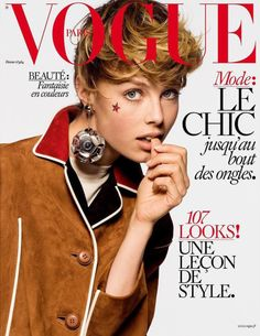 Eddie Campbell by Inez & Vinoodh on the cover of Vogue Paris February 2016
