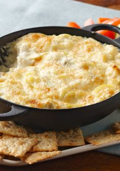 Hot Artichoke Dip – In our experience, this cheesy hot artichoke dip goes fast! In the unlikely event of leftovers, refrigerate in an airtight container for up to 3 days.