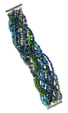 Multi-Strand Bracelet with SWAROVSKI ELEMENTS and Seed Beads - Fire Mountain Gems and Beads
