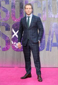 Jai Courtney Suicide Squad London premiere #suits