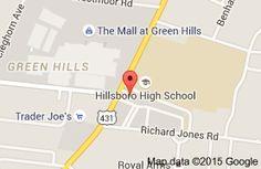 Map of Chinatown Restaurant  Nashville.  Everyone likes.