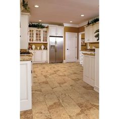 Home Decorators Collection Coastal Travertine 8 mm Thick x 11-1/9 in. Wide x 23-5/6 in. Length Click Lock Laminate Flooring (22.04 sq. ft. / case)-32685 - The Home Depot