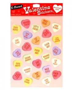 4 X-Rated Valentine Sticker Sheets 27 Stickers Per Sheet #sextoys #sextoysshop #sex #toys #valentines #valentine #Valentinesday #Bodystockings #Pantyhose #Hosiery #Fishnet #Body #Stocking #Lingerie #Costumes #underwear #Garters #Crotchless #lace #panty #thong #panties #fetish #erotic #Naughty #thong #dirty #Corset #bra #bras #foreplay #Clothing For more information visit: www.sextoysshop.com