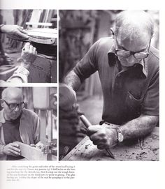 Sam Maloof, sculpturing a chair