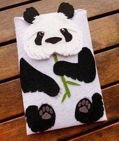 iPad mini Case Panda Bear Kindle Felt Cover iPad by LayonStore