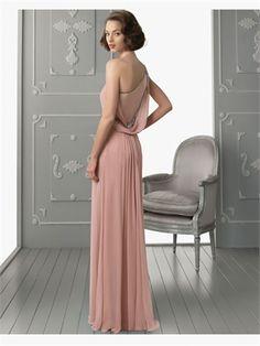 Column One Shoulder Sequins Chiffon 2014 Prom Dresses