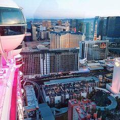 Bachelorette party view in Las Vegas @myweddingdotcom