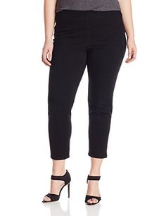dfc37cffe1ec0 NYDJ Womens PlusSize Millie Ankle Jeans Black 14W   Details can be found by  clicking on