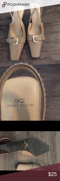 Anne Klein kitten heels. Anne Klein beautiful kitten heels. Ankle strap. Very comfortable. Sling backs Anne Klein Shoes
