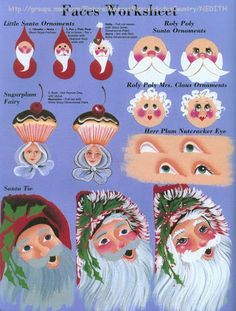 How to paint glass donna dewberry ideas Santa Paintings, Christmas Paintings, Christmas Art, Face Paintings, Painting Lessons, Art Lessons, Painted Books, Hand Painted, Painted Faces