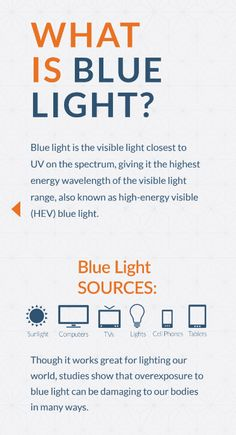 Blue light is a harmful wavelength of light that can damage our sensitive retinal cells. Natural Remedies For Arthritis, Natural Cures, Eye Facts, Work Jokes, Eye Sight Improvement, Healthy Eyes, Cold Home Remedies, Health Facts, Light Blue