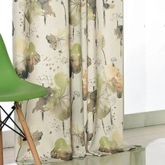 The lotus curtains are comfortable yet elegant fabrics, good permeability & good thermal insulation and harmless to the human body. Perfect for your sliding doors or windows. Bird Curtains, Floral Curtains, Rustic Curtains, Linen Curtains, Living Room Drapes, Living Room Green, Insulated Curtains, Thermal Curtains, Sound Proof Curtains