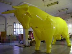 Opblaasbare dieren.: Met helium gevulde opblaasbare dieren vliegende st...