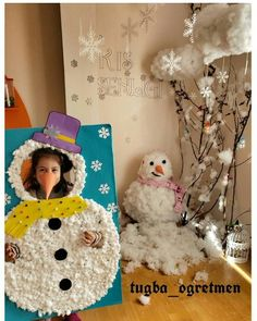 Christmas Door, Christmas Crafts For Kids, Christmas Cards, 3d Craft, Build A Snowman, 1st Day, Winter Camping, Kids Corner, Birthday Party Decorations