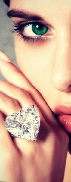 big crystal heart ring